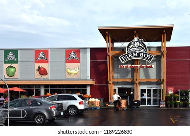 Ottawa, Canada - September 26, 2018:    Ottawa based food retailer Farm Boy and its 26 locations were recently purchased by Empire Co. Ltd., parent of the Sobeys, another Canadian grocery chain.