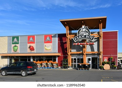 Ottawa, Canada - September 27, 2018:    Ottawa based food retailer Farm Boy and its 26 locations were recently purchased by Empire Co. Ltd., parent of the Sobeys, another Canadian grocery chain.
