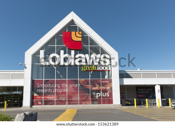 OTTAWA, CANADA - SEPTEMBER 8: A retail outlet for Loblaws September 8, 2013, Ottawa, Canada. Loblaws is a supermarket chain with over 70 stores across Canada in British Columbia, Ontario and Quebec.