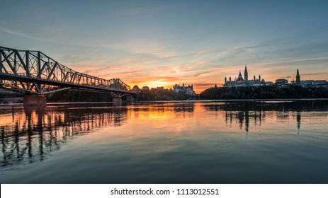 Ottawa downtown at sunrise