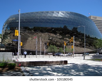 OTTAWA - MAY 30: Newly opened Ottawa convention centre achieves AIPC Gold Certification on May 30, 2012, Ottawa. One of just 20 centres worldwide. AIPC is an international association of congress centres.