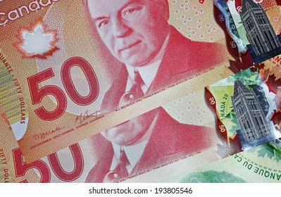 OTTAWA - NOVEMBER 7, 2013:  The Bank of Canada issued new high tech polymer money with holograms that will last longer and be harder to counterfeit.