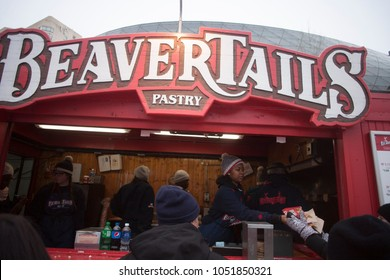 Ottawa, ON / Canada February 17 2018 Beavertails shack