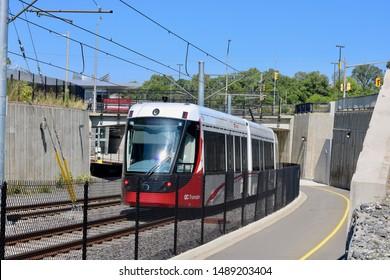 ottawa ontario canada august 26/2019 Ottawa LRT Light Rail Transit. Ready to roll, Oc transpo, transportation