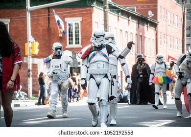 Ottawa, Ontario / Canada August 27 2017: Ottawa Capital Pride parade 2017. 501st Legion.