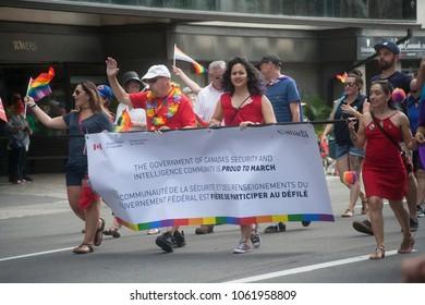 Ottawa, Ontario / Canada August 27 2017: Ottawa Capital Pride parade 2017