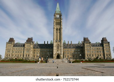 Ottawa Parliament with blue sky, Ontario, Canada.