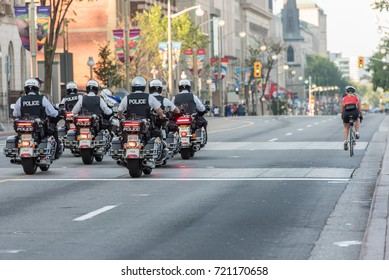 OTTAWA  - SEPT 24, 2017: American police join Canadian Police and Peace Officers Memorial Parade that takes place today in the nation's capital.