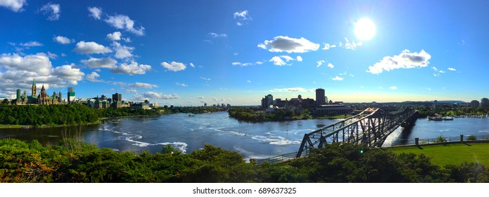 Ottawa view over parliament hill and gatineau Canada