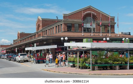 OTTAWA,ON - AUGUST 13 : The Byward market in Ottawa,On on august 13,2015. The Byward market is Canada's oldest continuously operating farmers' market