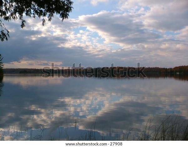 Otter Lake sunset.