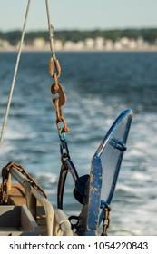 Otter trawl door, blue