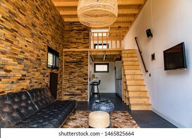 OTTERLO, HOLLAND - march 2019 - Lovely tiny house on the Veluwe (Holland)
