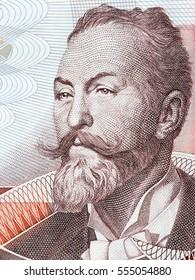 Otto Koloman Wagner portrait from Austrian money