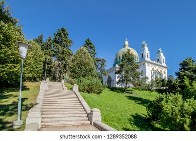 Otto Wagner church (Kirche am Steinhof) in Vienna, Austria