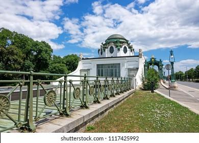 Otto Wagner Pavilion Vienna, historic subway station art nouveau