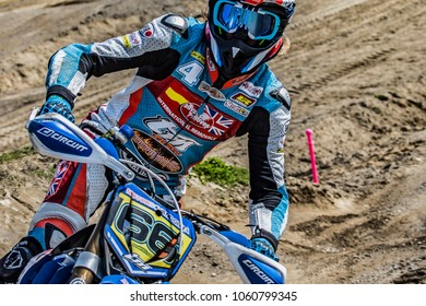 Ottobiano, Italy, 24-25 of March, 2018. Supermoto European Championship, #1 ROUND OF LOMBARDIA, S1 on Ottobiano Motorsports Park, Pavia hosted the first race in 2018