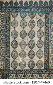 Ottoman ancient Handmade Turkish Tiles with floral patterns