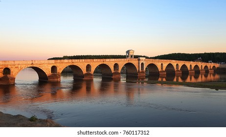 Ottoman bridge on Meric River near Edirne