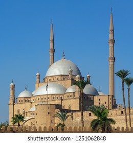 Ottoman Great Mosque of Muhammad Ali Pasha (Alabaster Mosque), situated in the Citadel of Cairo, commissioned by Muhammad Ali Pasha, one of the landmarks of Cairo, Egypt