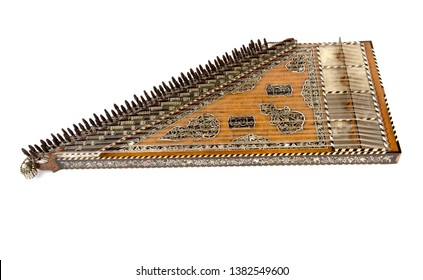 Ottoman Qanun stringed musical instrument. Ottoman (on the life of a thousand years) was written with mother of pearl and inlaid work.