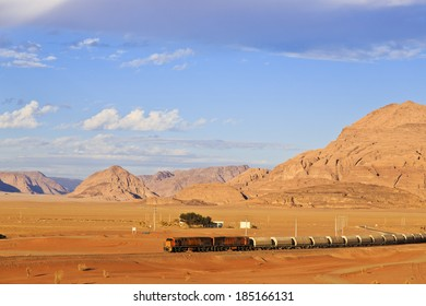 Ottoman train in Arabian desert