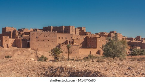 Ouarzazate, Morocco, Africa - January 15, 2014: Overview of the largest Kasbah in the city of Ouarzazate, in the middle of the Sahara desert