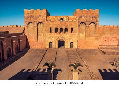 Ouarzazate, Morocco - January 14, 2019 : CLA Studios used as filming location for many movies including The Mummy, Sahara, Troy, Gladiator. This film set has been used in Game of Thrones TV series.