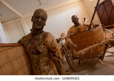 Ouarzazate, Morocco - October 20, 2018: Human dummies used for the violent scenes during Ben-Hur film shooting, at Ecla Film Studio