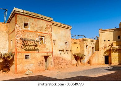OUARZAZATE, MOROCCO - SEP 6, 2015: Decoation of the Atlas Corporation Studios, one of the world's largest film studios