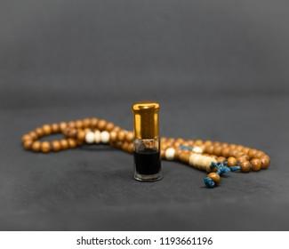 Oud attar arabian perfume, agarwood oil fragrances in mini bottles