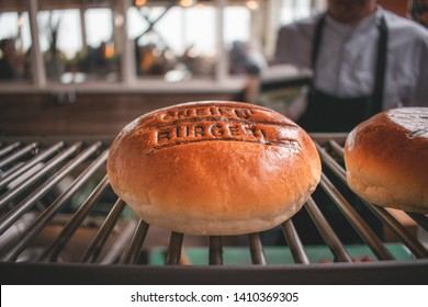 Ouddorp / The Netherlands - May 26 2019: Delicious O'Neill burger to eat during the opening of the O'Neill Beachcenter