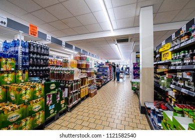 OUDENBOSCH - THE NETHERLANDS - JUNE 24: Inside supermarket Lidl in Oudenbosch on June 24, 2018