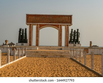 Ouidah, Benin - 30/12/2019.  Port of not return, symbol of the slavery.