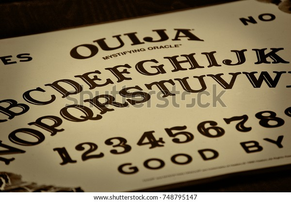 Ouija Board Diagonal Angle Stock Photo Edit Now 748795147