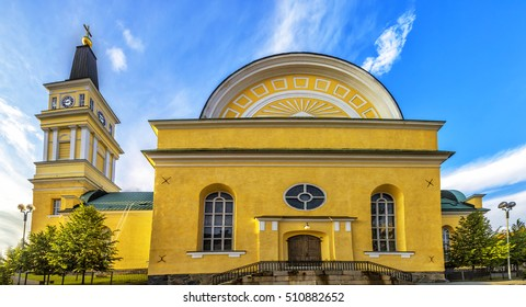 Oulu Cathedral (Oulun tuomiokirkko) is an Evangelical Lutheran cathedral, located in the centre of Oulu, Finland. The church was built in 1777 as a tribute to the King of Sweden Gustav III.
