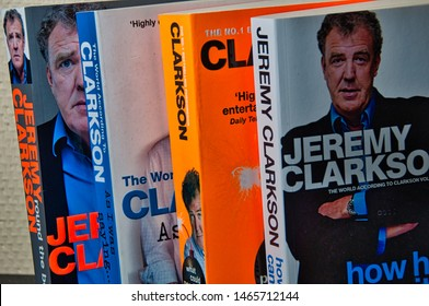 Oulu, Finland 30.7.2019 Collection of Jeremy Clarkson books.