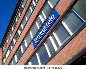 OULU, FINLAND - APRIL 13, 2018: Terveystalo Oyj is the largest healthcare service company in Finland.