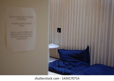 Oulu, Finland - July 11 2016: Keep quiet sign at relaxtion area of study space in Oulu University