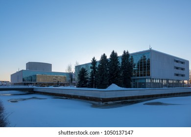 Oulu, Oulu / Finland March 16 2018: Library and Theatre of Oulu