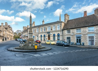 Oundle,Northamptonshire,England on 3rd Nov 2018: Oundle is a small market town on the River Neme in the East Midlands of England and in the county of Northamptonshire