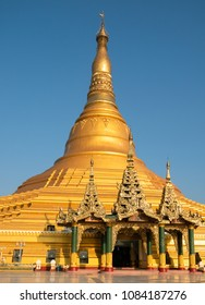The Ouparta Thandi Zedi pagoda in Naypyidaw, the capital of Myanmar.