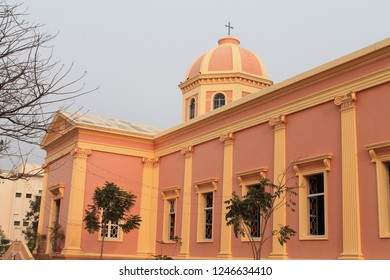 Our Lady of Angels Church built in Greco-Roman architecture in 19th century in  Puducherry