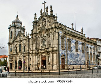 Our Lady of Carmo Church in Oporto, Portugal