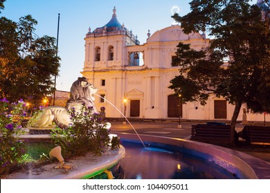 Our Lady of Grace Cathedral in Leon. Leon, Nicaragua.