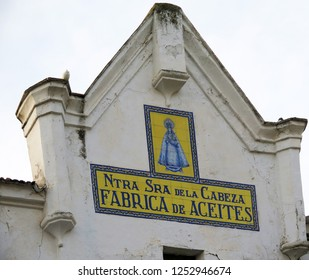 'Our lady of the head' olive oil factory in Andalusian village