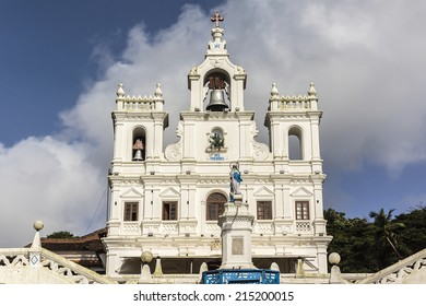 Our Lady of Immaculate Conception Church - one of the oldest churches in Goa, which existed from year 1540. Panjim (Panaji) - capital of Indian state of Goa and headquarters of North Goa district.