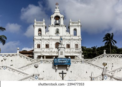 Our Lady of Immaculate Conception Church one of the oldest churches in Goa, which existed from year 1540. Panjim (Panaji) - capital of Indian state of Goa and headquarters of North Goa district.