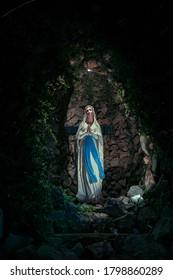 our Lady of Lourdes catholic statue