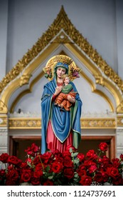 Our lady of Perpetual Help Virgin Mary and Child Jesus statue